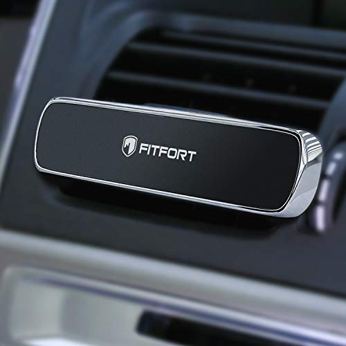 Phone Holder for Car Air Vent - FITFORT Universal Magnetic Car Phone Mount with Super Strong Magnets Compatible Phone X XS XR MAX 8 Plus S9 S8 and Other Smartphones & Mini Tablets