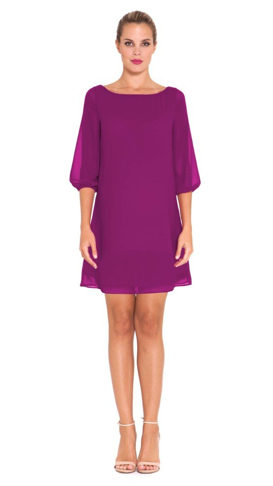 The Olian ''Patti'' Chiffon Overlay Shift Dress