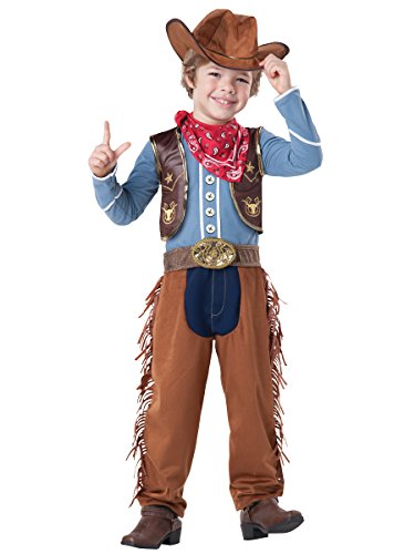InCharacter Baby Boy's Cowboy Costume, Brown/Blue, 2T (Infant Cowboy Chaps)