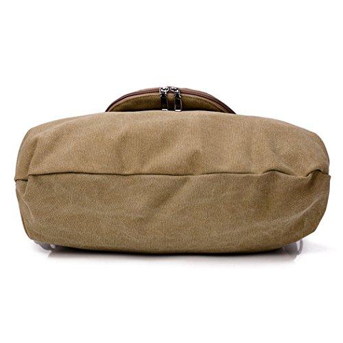 Handbags Vintage Shoulder Canvas Fanspack Hobo Handbag Handle for Women Top Shopper Tote Khaki qa4CHw