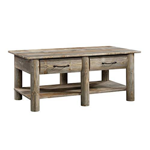 - Sauder 424608 Boone Mountain Coffee Table, Rustic Cedar Finish