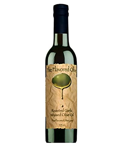 Roasted Garlic Infused Gourmet Olive Oil, Cold Pressed - Great Flavoring for a Variety of Dishes! (Roasted Garlic Hummus)