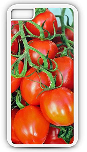 iPhone 7 Case Tomatoes Red Vegetables Mediterranean Vitamins Customizable by TYD Designs in White Plastic Black Rubber Tough Case