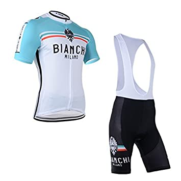 193fe31bd 2014 Outdoor Sports Pro Team Men s Short Sleeve Bianchi Cycling Jersey and  Bib Shorts Set White-XXX-Large