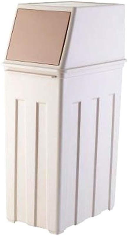 Papeleras Recipiente de basura rectangular de 30 litros de plástico Papelera Contenedor de basura Contenedor para oficina Cocina Salón Hotel con tapa y ruedas Pedall Cocina casa jardín: Amazon.es: Hogar
