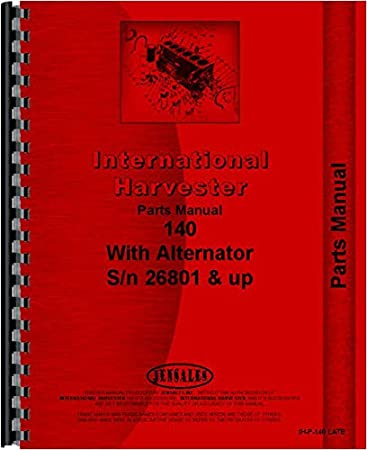 International Harvester 140 Tractor Parts Manual Chassis
