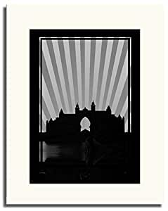 Atlantis - Black And White No Text F05-m (a5) - Framed