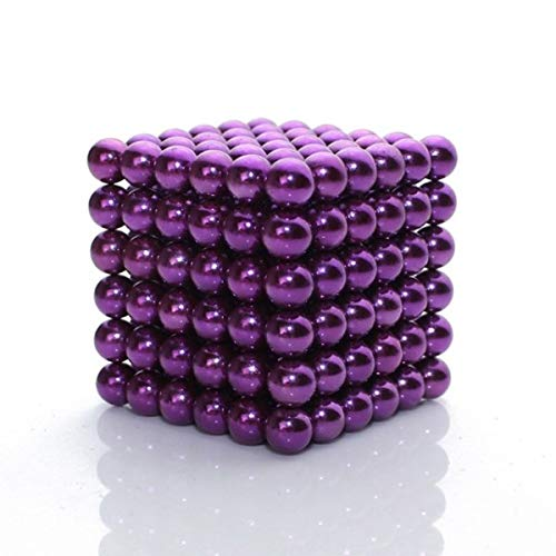 MagneBalls 5MM Magnetic Ball Set Perfect for Jewlery, Crafts, Education and Intelligence Development- Desk Sculpture Toy Provides Relief for Office Stress, ADHD, Autism, and Anxiety (Purple)