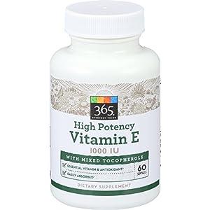 365 Everyday Value, Vitamin E 1000 IU, 60 ct