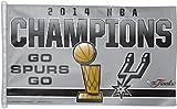 San Antonio Spurs 2014 NBA Champions 'Go Spurs Go' 3 x 5 Flag by Wincraft, 86583018