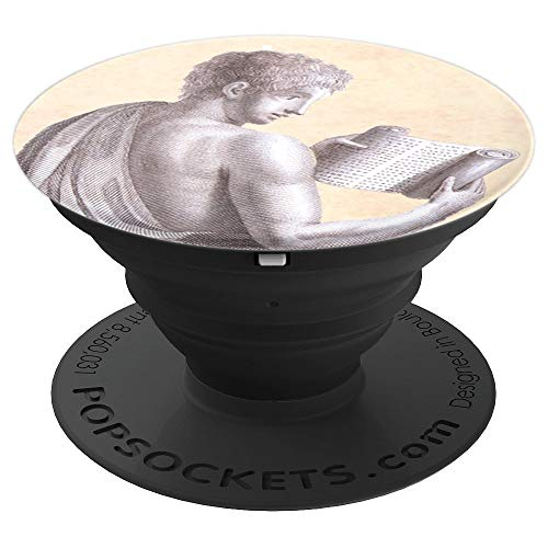- Greek or Roman Philosopher with Ancient Scroll - PopSockets Grip and Stand for Phones and Tablets