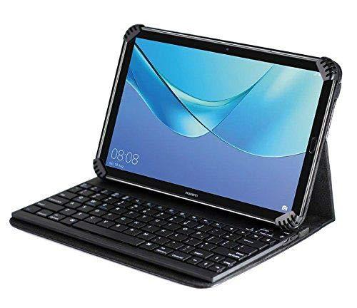 Navitech New Fall/Abdeckung/Tasche/Hülle mit Standfunktion und QWERTZ Bluetooth Tastatur kompatibel mit dem Yuntab…