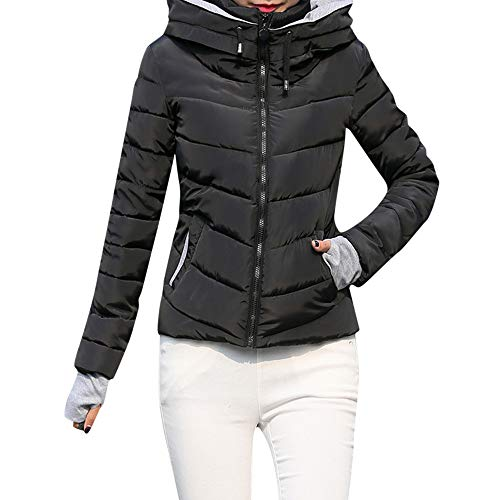 ZEFOTIM Women Thick Outerwear Hooded Coat Short Slim, used for sale  Delivered anywhere in USA