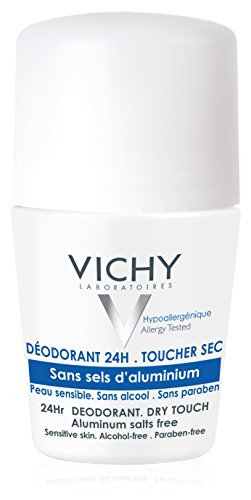 Vichy 24 Hour Dry-Touch Roll On Deodorant, Aluminum Free, Salt Free, 1.7 Fl. Oz.