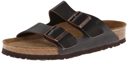 Birkenstock Arizona Soft Footbed Leather Sandal - Womens Hunter Brown, 36.0