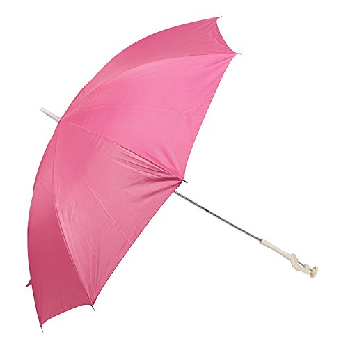 Panorama Gifts Portable Deck Chair Umbrella Lightweight Balcony Parasol + Clamp On Screw (Pink) (Chairs Aluminium Deck)