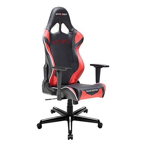 41qOfm5xhdL - DX-Racer-DOHRZ205NR-Quake-Champion-Racing-Bucket-Seat-Office-Chair-Gaming-Chair-Ergonomic-Computer-Chair-eSports-Desk-Chair-Executive-Chair-Furniture-with-Free-CushionsBlackRed