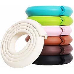 M2cbridge L Shape Extra Thick Furniture Table Edge Protectors Foam Baby Safety Bumper Guard 6.5 Ft (White)