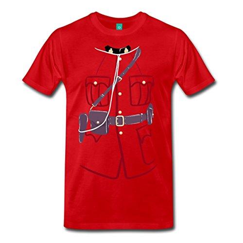 [Mountie Uniform Costume Men's Premium T-Shirt by Spreadshirt, 5X, red] (Mountie Uniform)