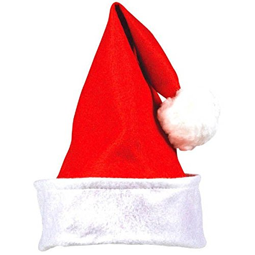 Amscan Fun-Filled Christmas & Holiday Party Folded Cuff Santa Hat (1 Pack), 15