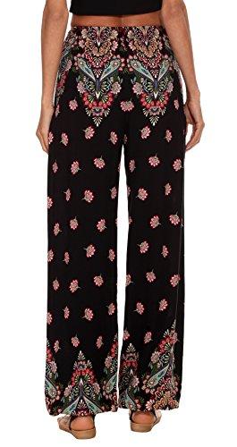 Pantalon Imprimer Harem Floral Dames Urban GoCo 10 Femmes Pantalon lastique Taille Boho OqWpI7