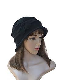 Lawliet New Stylish Womens Ladies 100% Wool Winter Warm Flower Cloche Bucket Hat A222
