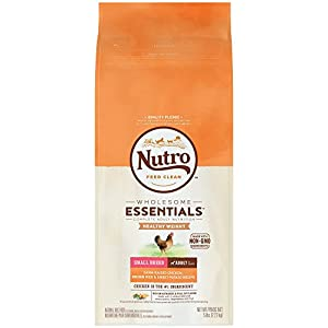 NUTRO WHOLESOME ESSENTIALS  Healthy Weight Small Breed Adult Farm-Raised Chicken, Brown Rice & Sweet Potato Recipe 5 Pounds