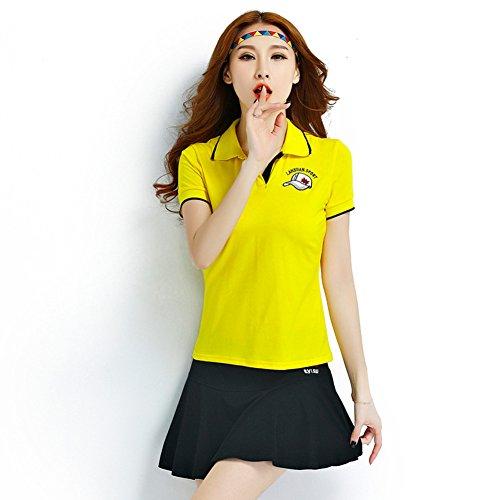 L&Z Theone レディース ゴルフウェア 上下 セット ポロシャツ スカート ファッション 無地 可愛い 通気 ストレッチ おしゃれ カジュアル スポーツウェア