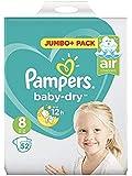 Maat 8 Baby Dry Jumbo + verpakking van 52 stuks.