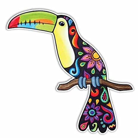 Amazoncom Toucan Sticker Colorful Tropical Bird Car Decal By - Bird window stickers amazon