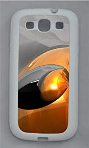 Abstract 3D Art Hd TPU Silicone Rubber Case Cover for Samsung Galaxy S3 SIII I9300 White