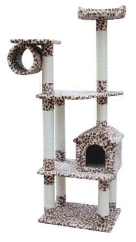 Kitty Mansions Baltimore Cat Tree, Leopard