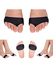 Forefoot Pad Compression Metatarsal Pads for Women Men's Sesamoiditis Orthosis Ball of Feet Gel Metatarsal Joint Capsulitis Callus 1 Pair