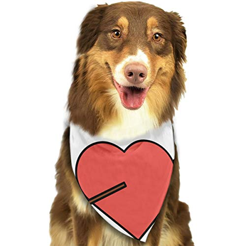 Valentines Day Pierced Heart - CZSJzd Love Heart Pierced Arrow Valentine Day Romantic Fashion Dog Bandana Pet Accessories Easy Wash Scarf