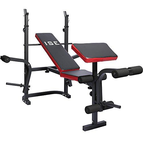 Célèbre ISE Banc de Musculation Multifonction Réglable Pliable Inclinable  YE16