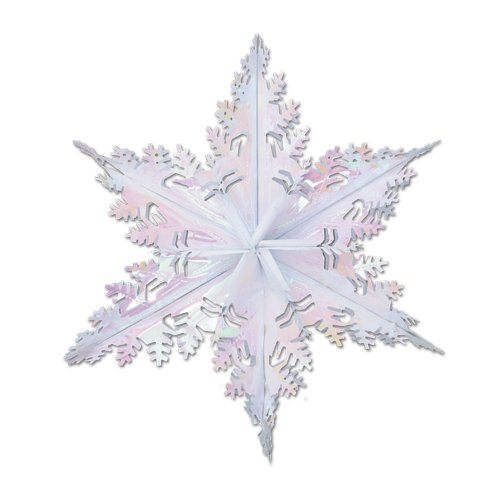 [Metallic Winter Snowflake (opalescent) Party Accessory  (1 count) (1/Pkg)] (Dance Central Halloween Costumes)