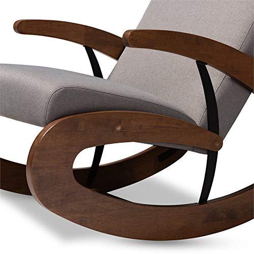 Enjoyable Amazon Com Baxton Studio Kaira 2 Piece Rocking Chair And Customarchery Wood Chair Design Ideas Customarcherynet