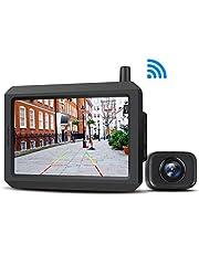 Digital Wireless Backup Camera Kit, 5 Inch TFT-LCD Big Screen with IP68 Waterproof Rear View Camera, Night Vision Ideal Reverse Camera for Cars Trucks Pickup Van SUV Mini RV Camper (BOSCAM K7)