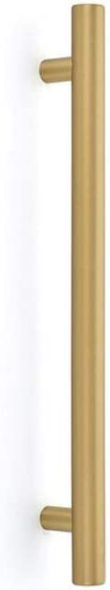 Emtek BAR Appliance Pull of The Urban Modern Collection, 18 inch (Center to Center), Overall: 21-1/4 inch, Color: Satin Brass (US4), Model: CS86352US4
