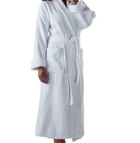 Organic Bathrobe. Plush Terry soft 100% GOTS Certified Organic Cotton. Pure and Elegant luxury (Women S, Natural)