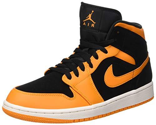 Shoes Men's 081 Sail Peel Air Jordan Black Mid 1 Black Orange NIKE Basketball 1qYxTqw