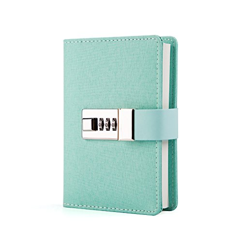 tion Lock Writing Travel Diary a7 Mini Notebook Green (Combination Notebook Lock)