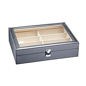 CO-Z 20 Slots Watch Box Jewelry Case Display Storage Organizer Wood Leather w/Pillow (20 Slot Watch Jewelry)