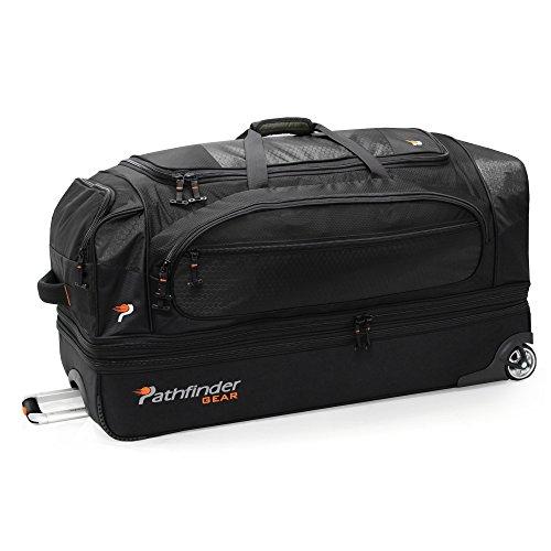 - Pathfinder Gear 36 Inch Rolling Drop Bottom Duffel, Black, One Size