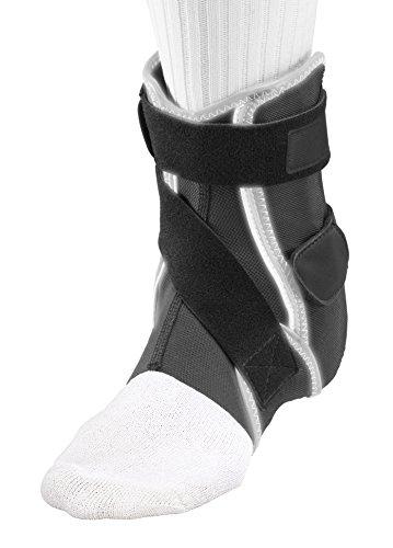 Mueller Hg80 Ankle Brace - Mueller Sports Medicine HG80 Premium Hard Shell Ankle Brace, Black/Gray