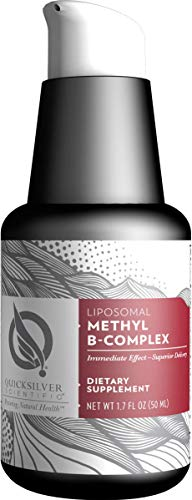 Quicksilver Scientific Liposomal Methyl B-Complex - Liquid Active B Vitamins with Folate, Methylcobalamin + Milk Thistle (1oz / 30ml)