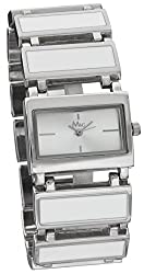 M&c Women's | White Self-Adjustable Links Watch | FC0254