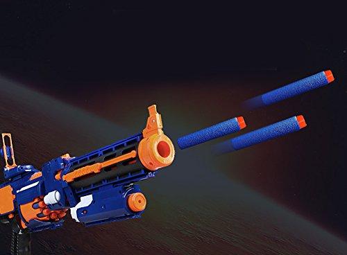 6MILES 200 Pcs 7.2*1.3 Cm EVA Dark Blue Foam Soft Refill Bullet Darts for Nerf N-strike Elite Series Blasters Kid Toy Gun Parts Play Game Slight Fast Firm Accessory Birthday Gift