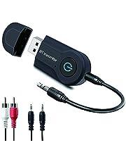 Aigoss Trasmettitore Bluetooth, Aupolo Adattatore Wireless Portatile Musica Stereo de 3.5 mm Stereo / USB per TV, Altoparlanti, Cuffie, PC, MP3/4 Stereo