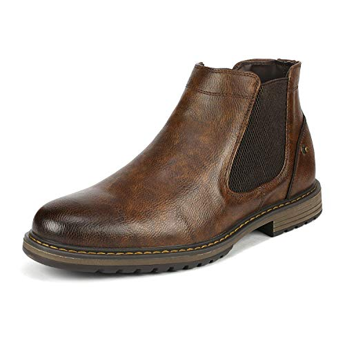 Bruno Marc Men's Philly_18 Brown Chelsea Chukka Boots Size 12 M US
